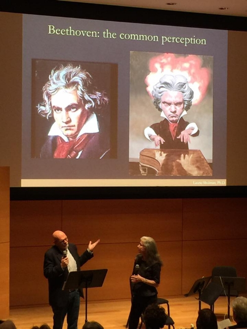 Composer/Arranger Jeffery Briggs, discussing The (New) Beethoven quartets at the Chamber Music Society of Fort Worth - 2/17