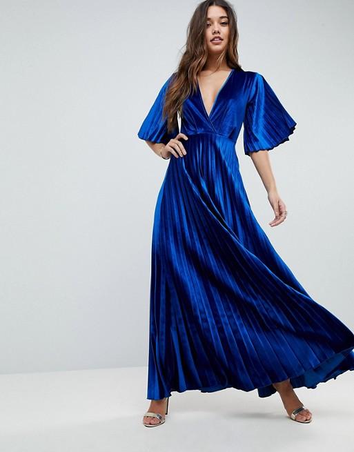 Pleat blue velvet dress.jpeg