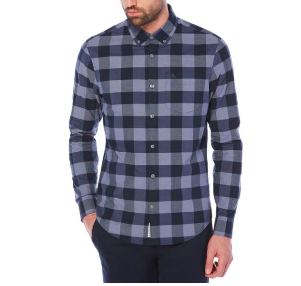 plaid style top for men