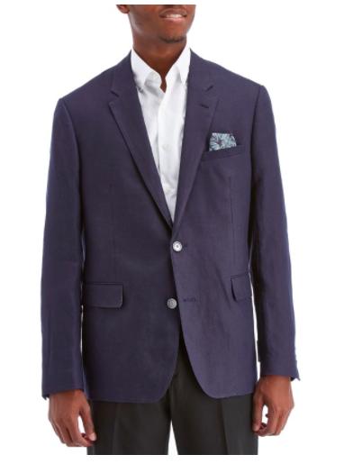 Dark Blue Navy Blue Sports Coat for Men