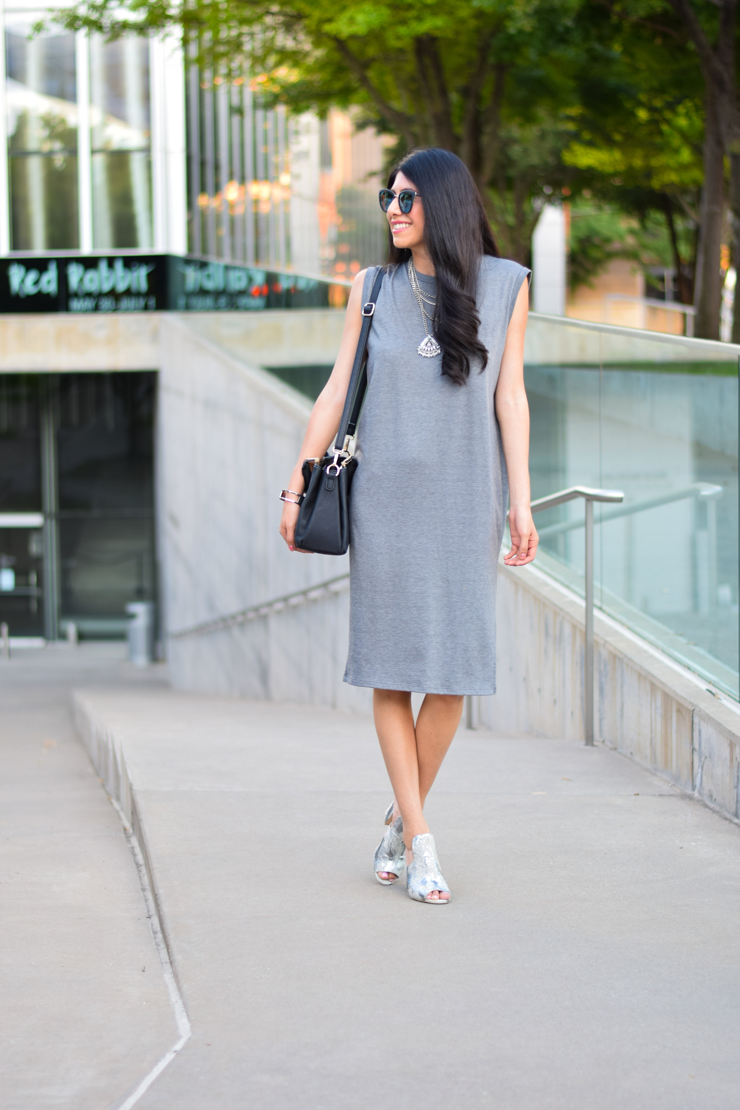 Grey Shift Dress Vanessa in Dallas