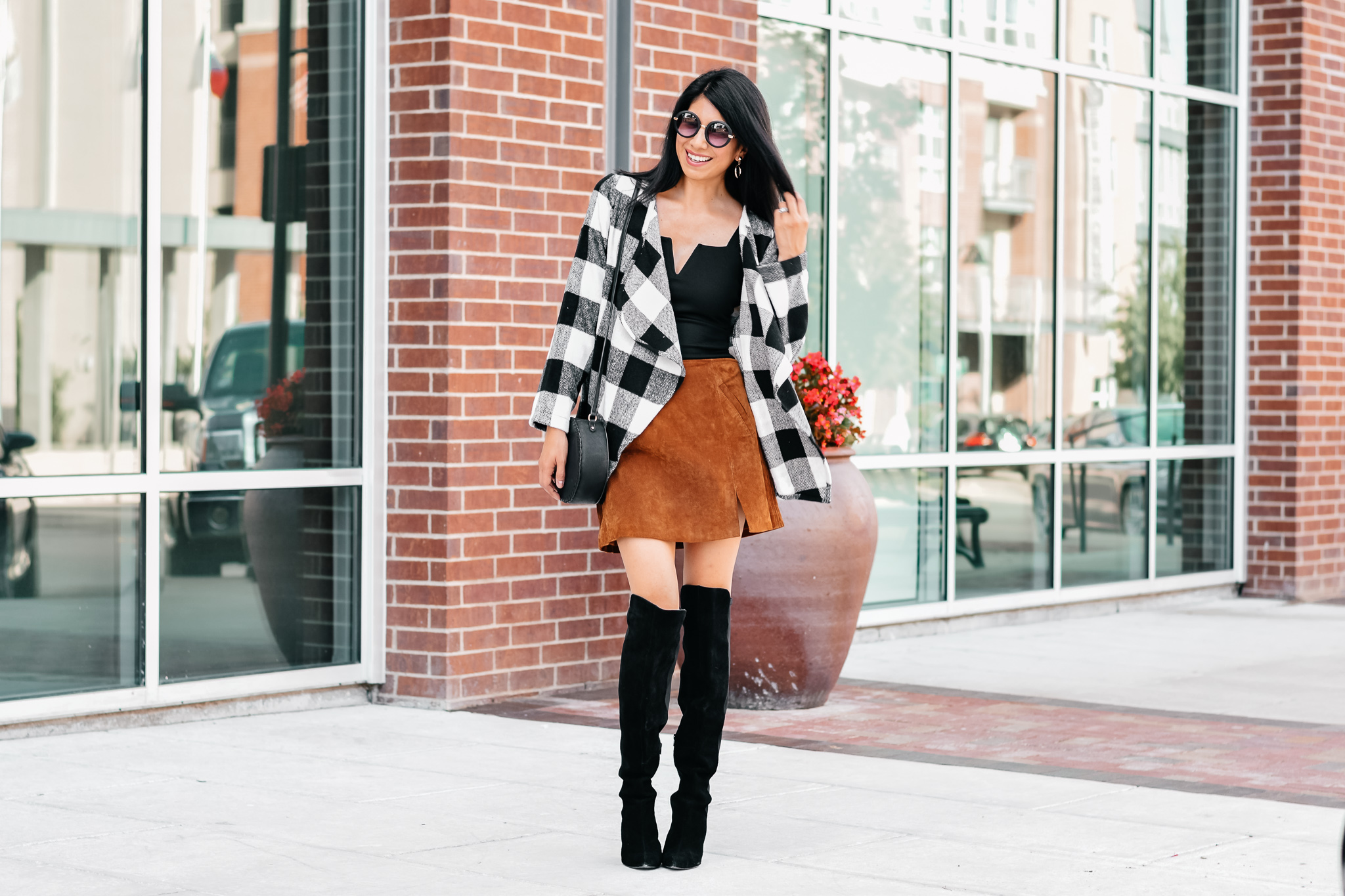 Favlux Buffalo Check Plaid Cardigan Sweater by Stage.com