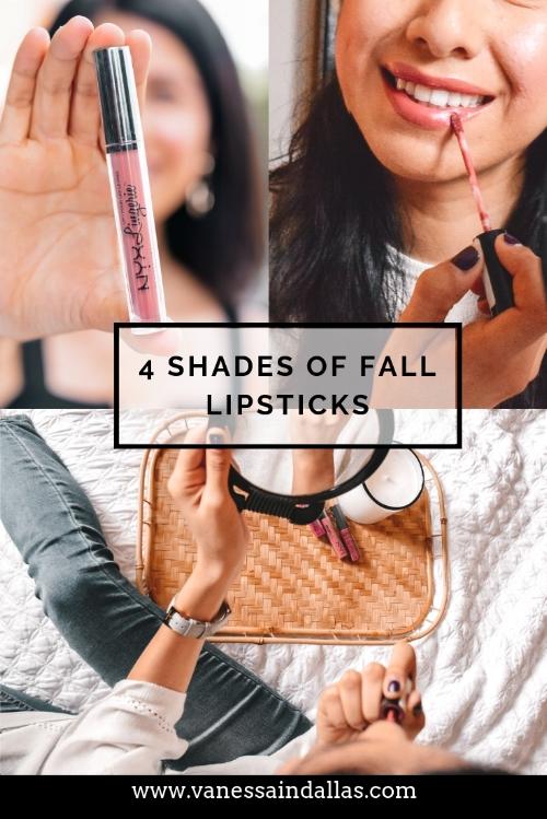 4 Shades of Fall Lipsticks with Stage.com #IPINKICAN