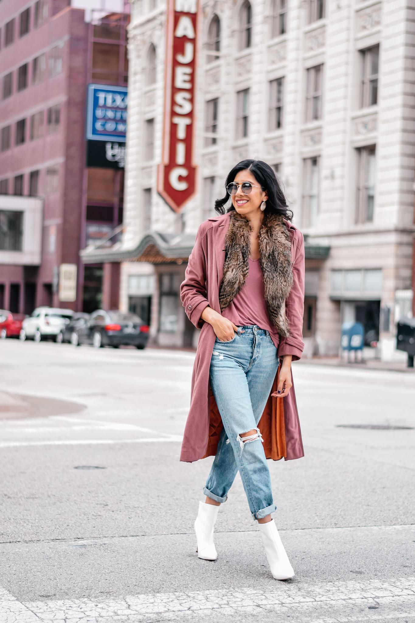 Vintage Blush Pink Coat