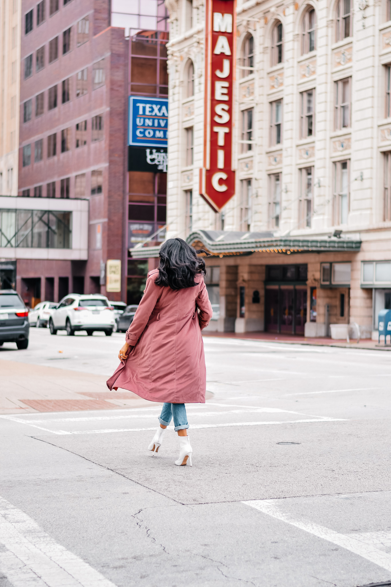 Vintage Pink Coat Outfit