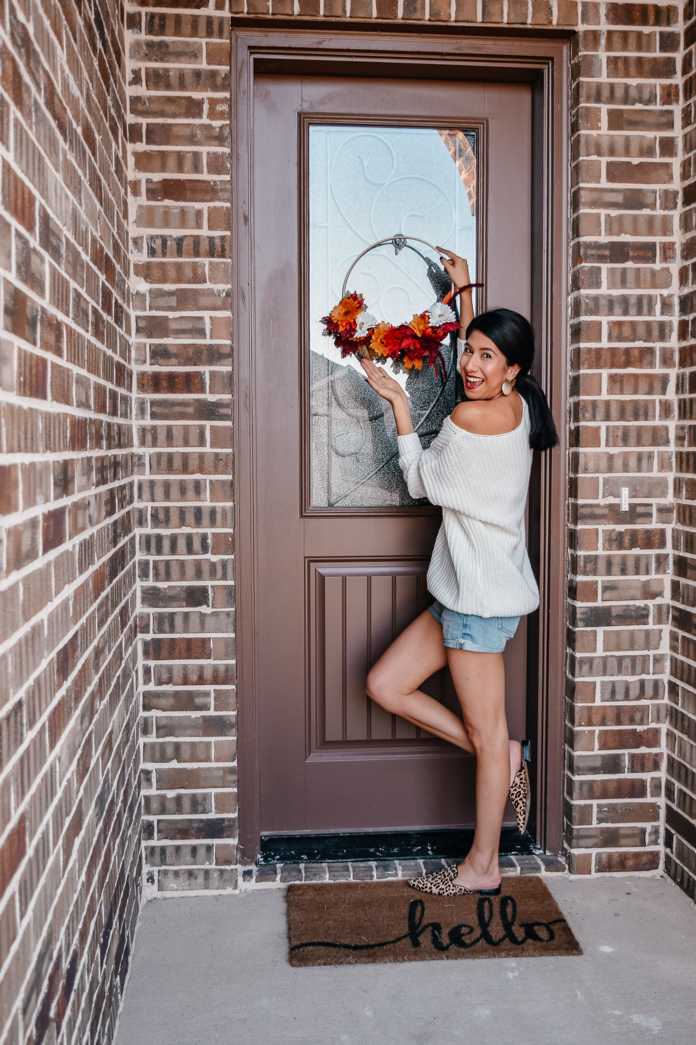 Simple Fall Wreath for your Door