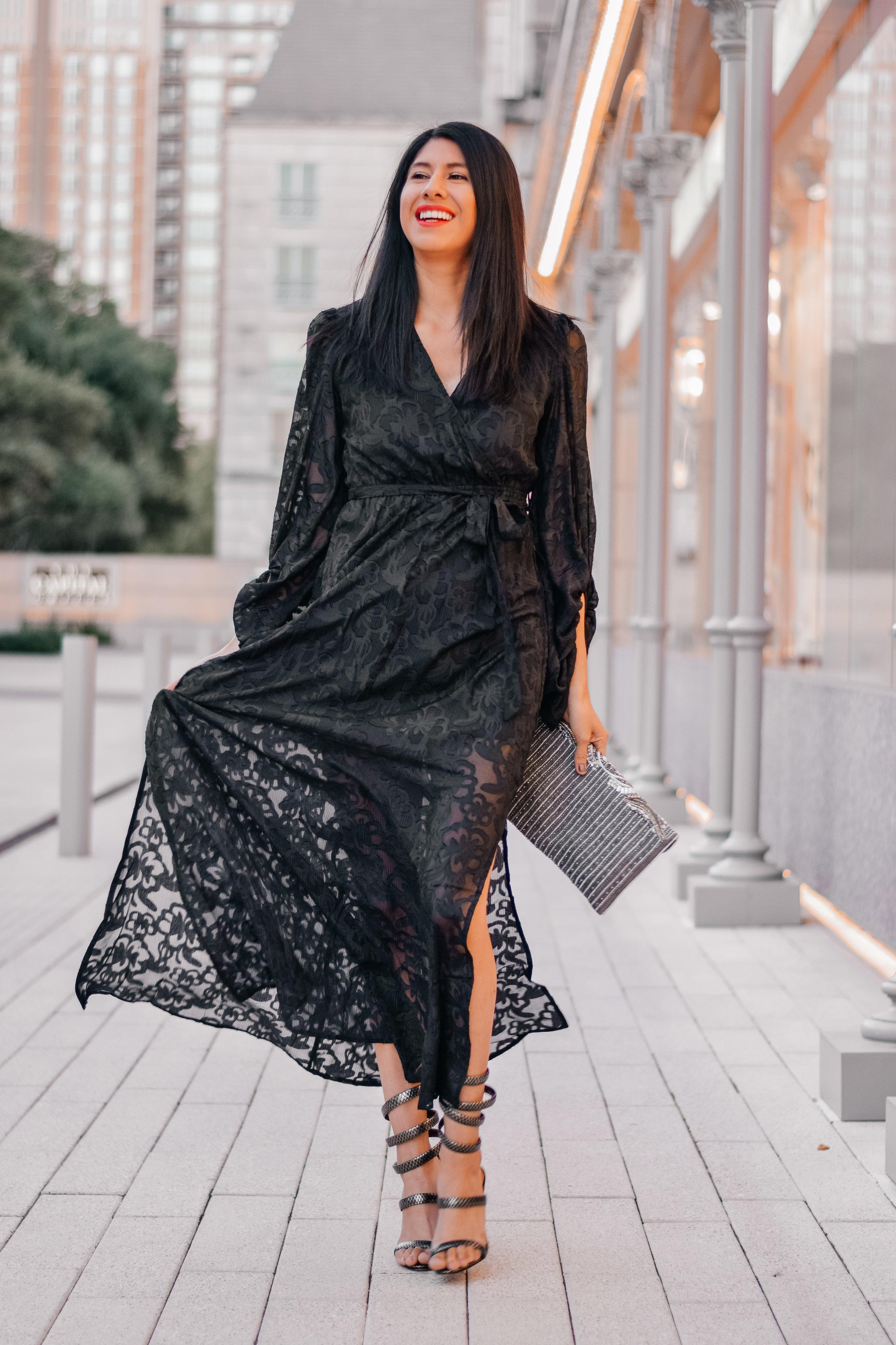 Francesca's Northern Light Collection-    Lorelei Burnout Maxi Dress