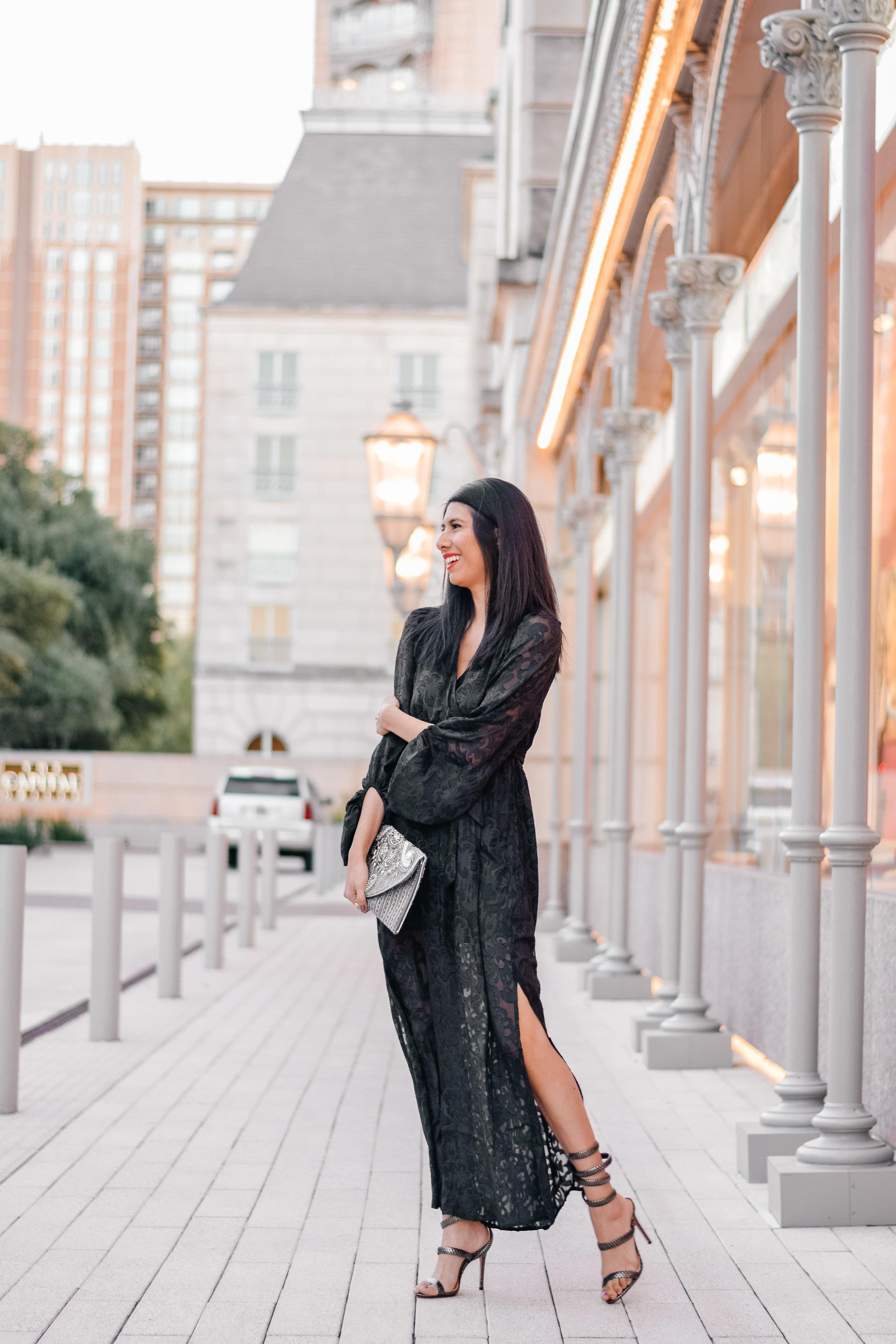 Francescas Lorelei Burnout Maxi Dress