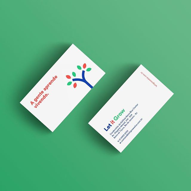 Asymmetric design, simplicity, direct tone of voice and use of geometric shapes make up Let it Grow's new identity. . . . . #rebrand #branding #businesscards #businesscarddesign