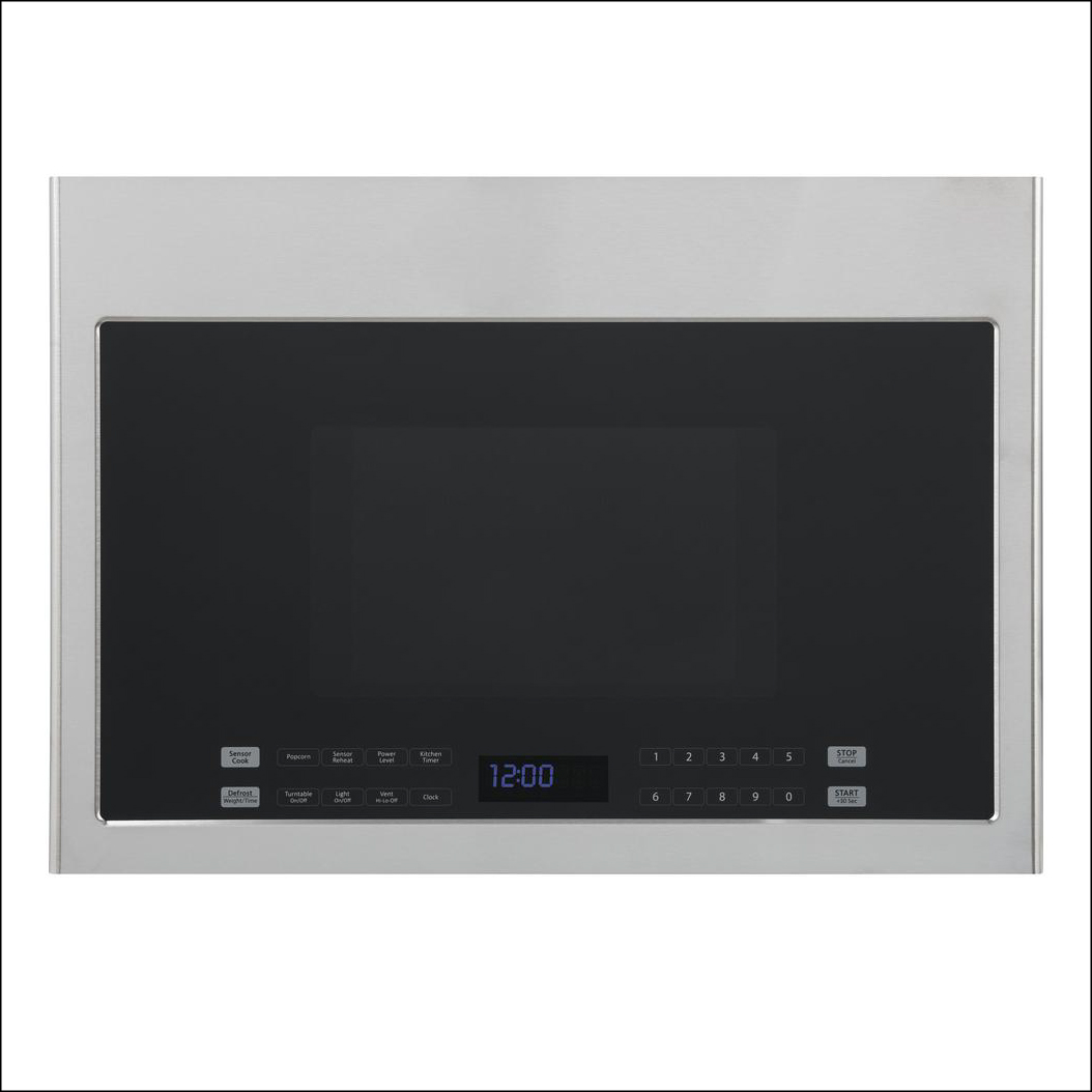 Stainless steel microwave over the range