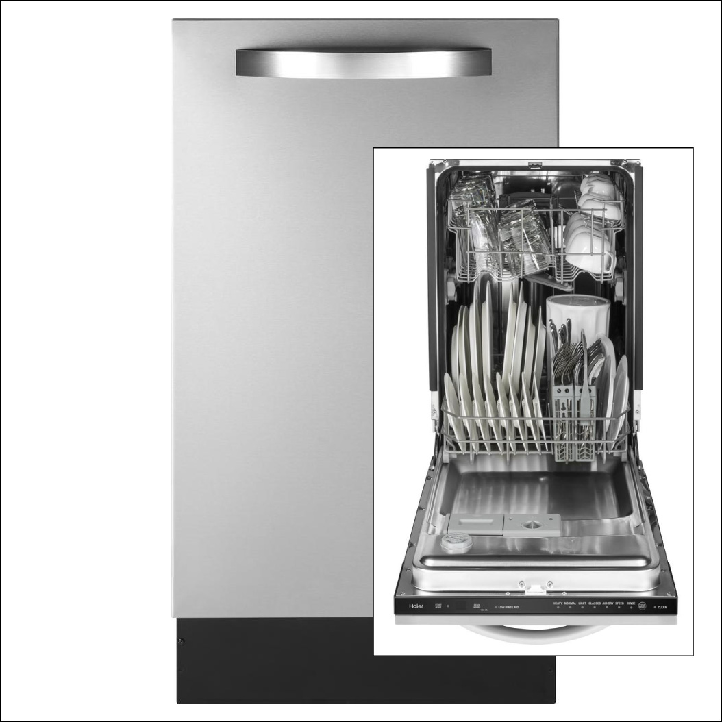 Stainless steel dishwasher with stainless steel tub