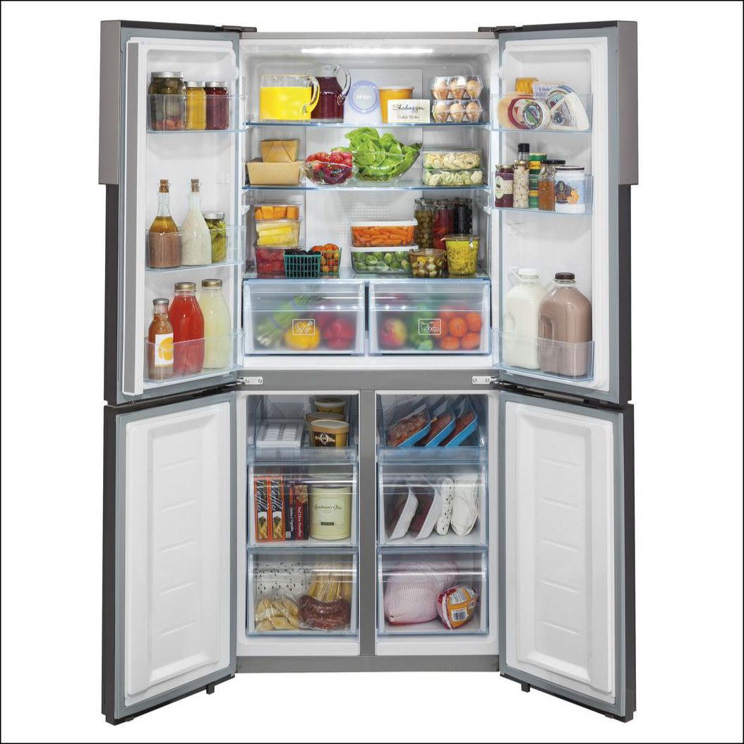 Four doors for easy access; 16.4 cu ft of storage