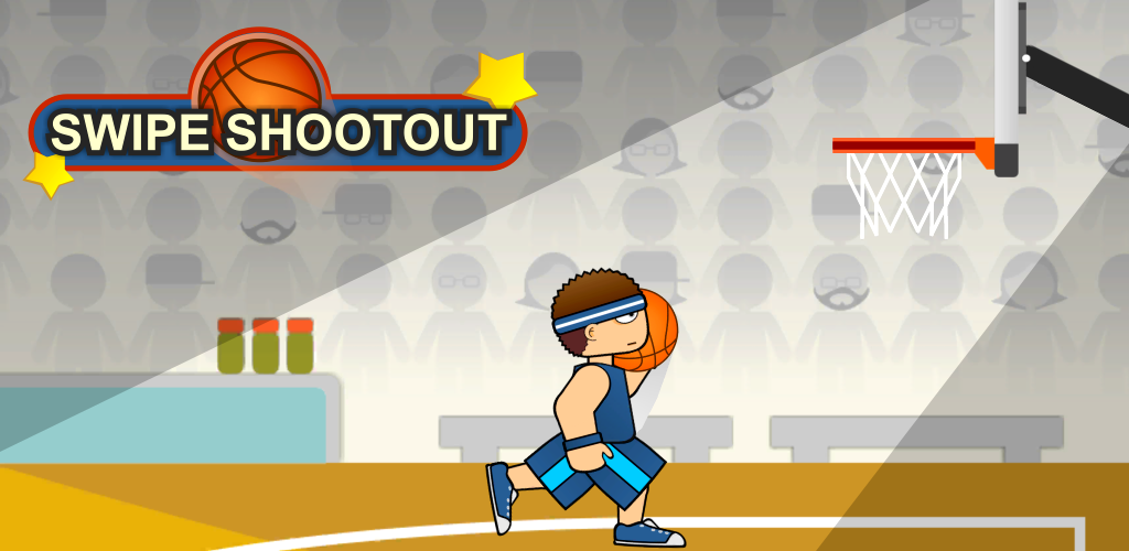 🏀 SWIPE SHOOTOUT 🏀 - Swipe Shootout is a finger basketball shooting game. There are different gameplay modes, including a same device 2-Player versus mode, and numerous balls and ball courts to unlock. Get your finger ready and become a swipe basketball pro! [Read More]