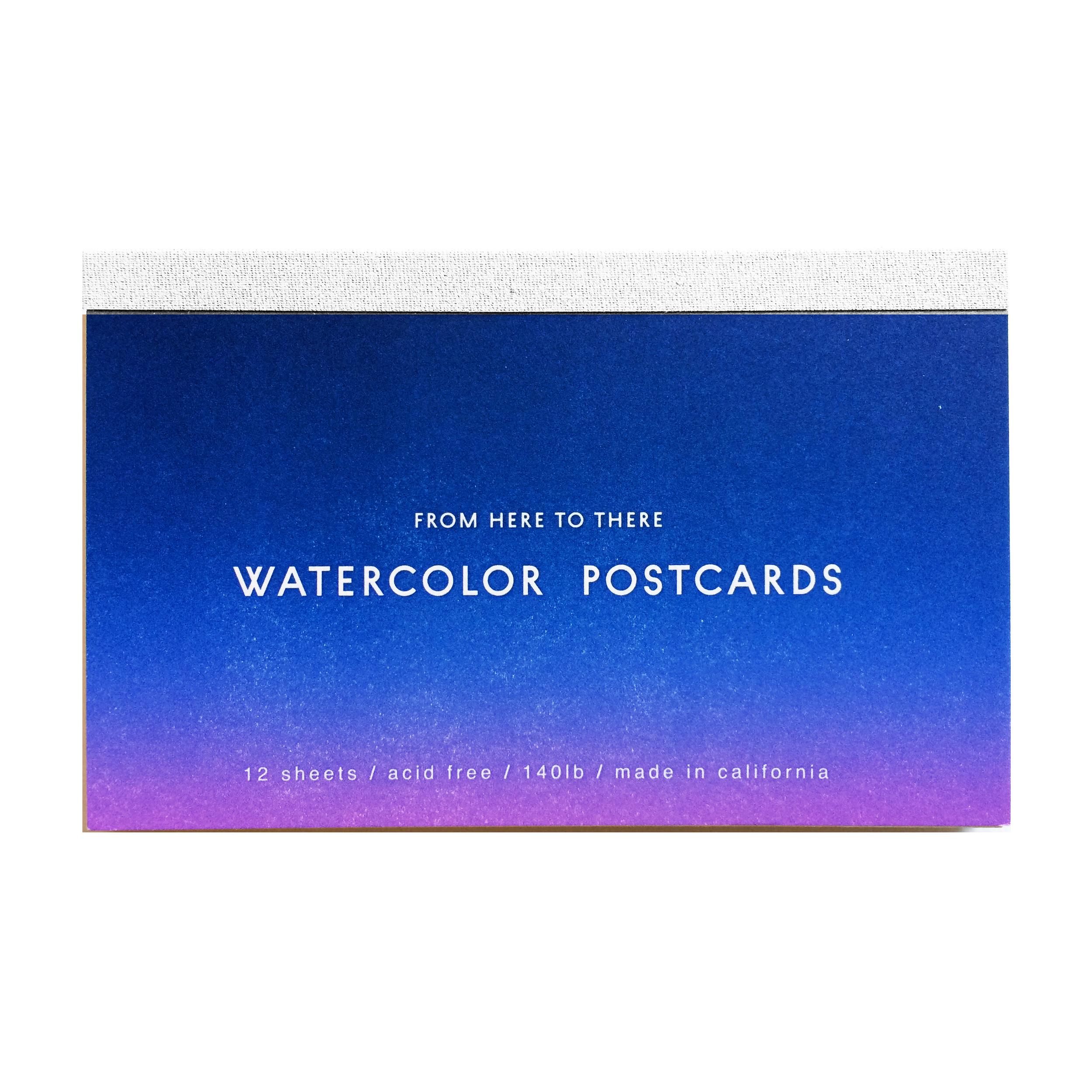 Letterpressed Watercolor Postcards