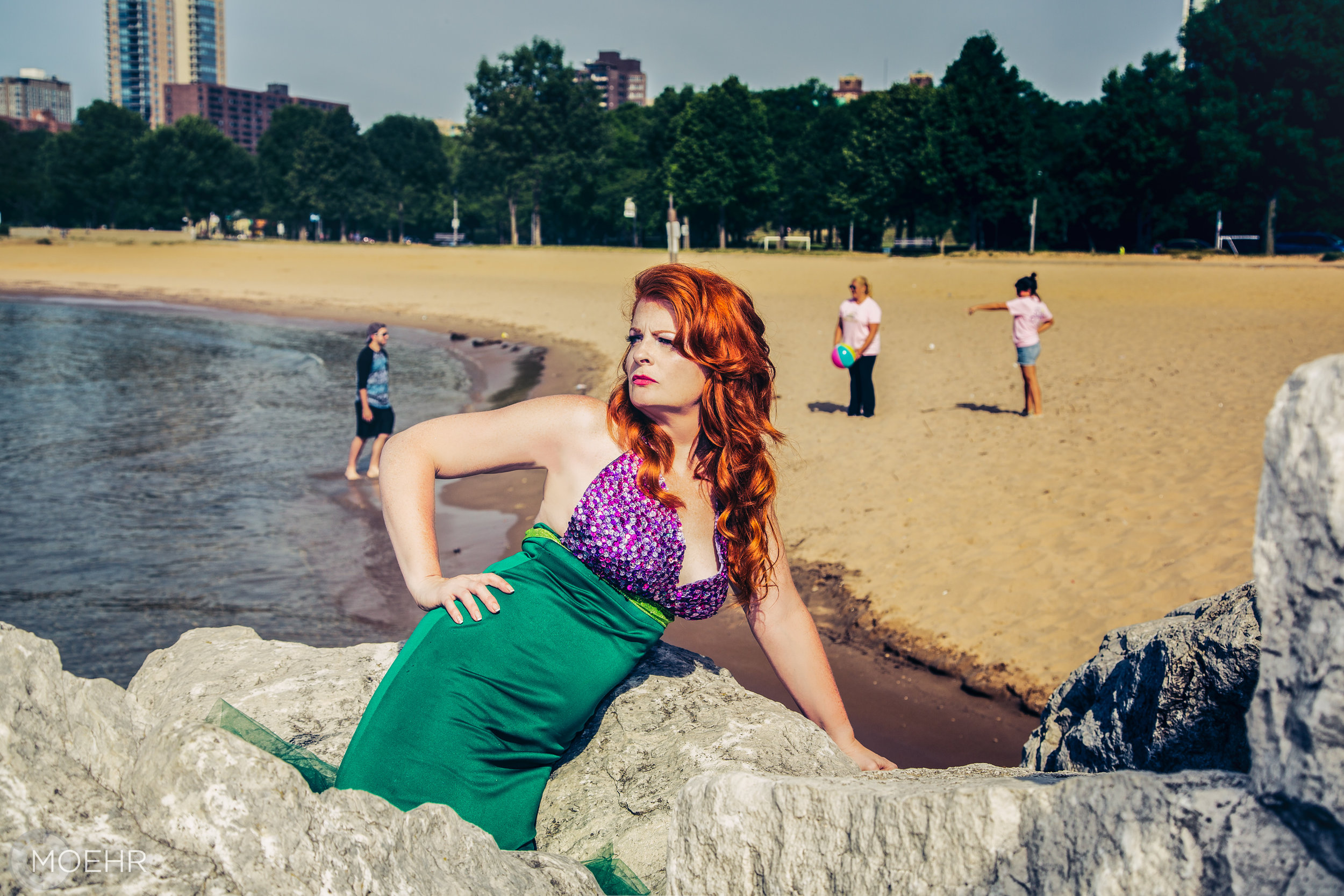 Kellie   as the Little Mermaid