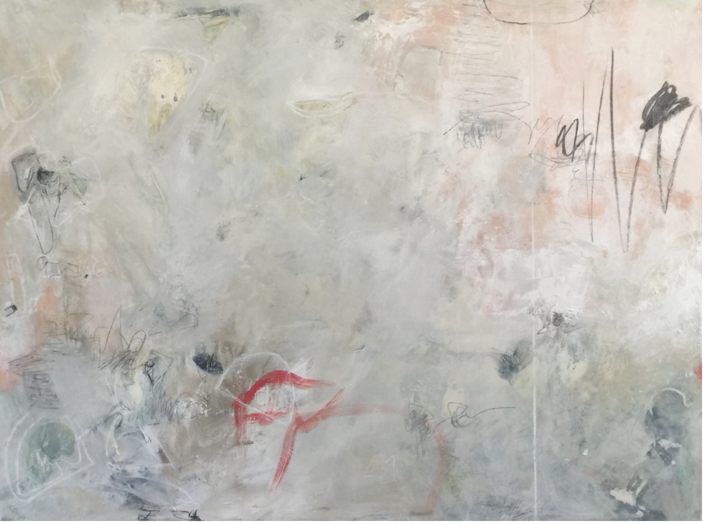 "Welcome Home Little One, Integration I, 36x60"", acrylic on canvas"
