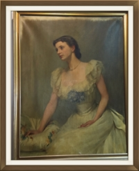 Oil painting of etiquette expert and author, Emily Post, which hangs in the offices of  The Emily Post Institute  in Vermont.