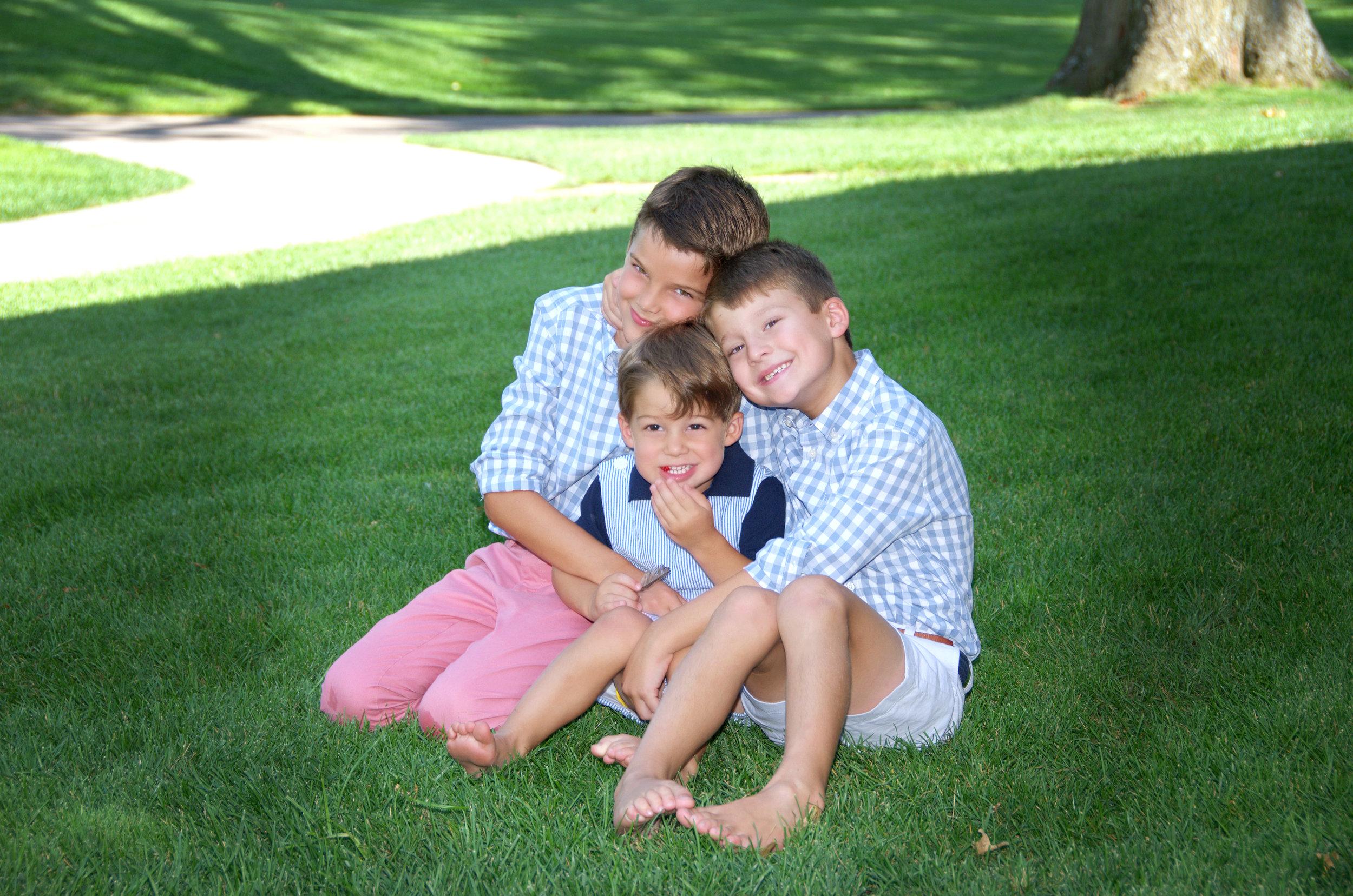 Jack (9), Henry (6) and John (3)