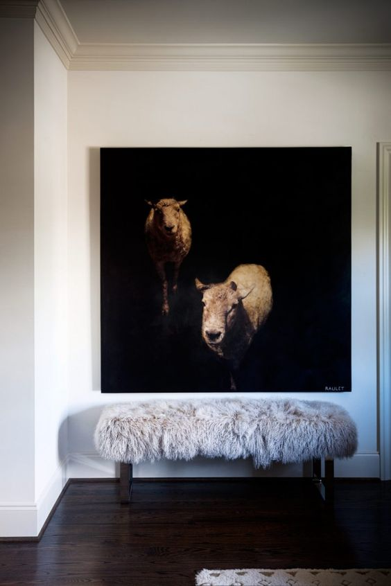 For the clutter free/ minimalist: bring a large scale subject off the wall with something sculptural that brings the subject to life.