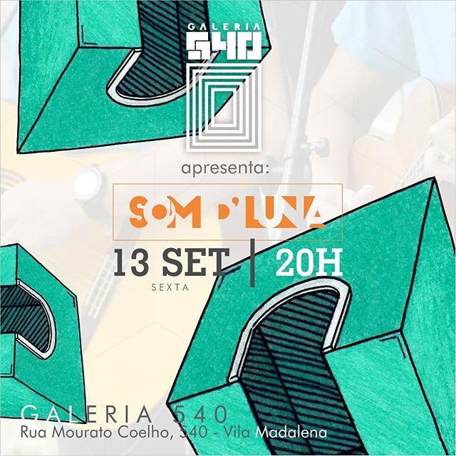 Hoje temos o prazer de trazer em nosso cantinho musical @somdluna !! Esperamos tod@s pra começar a esquentar pro final de semana 😊