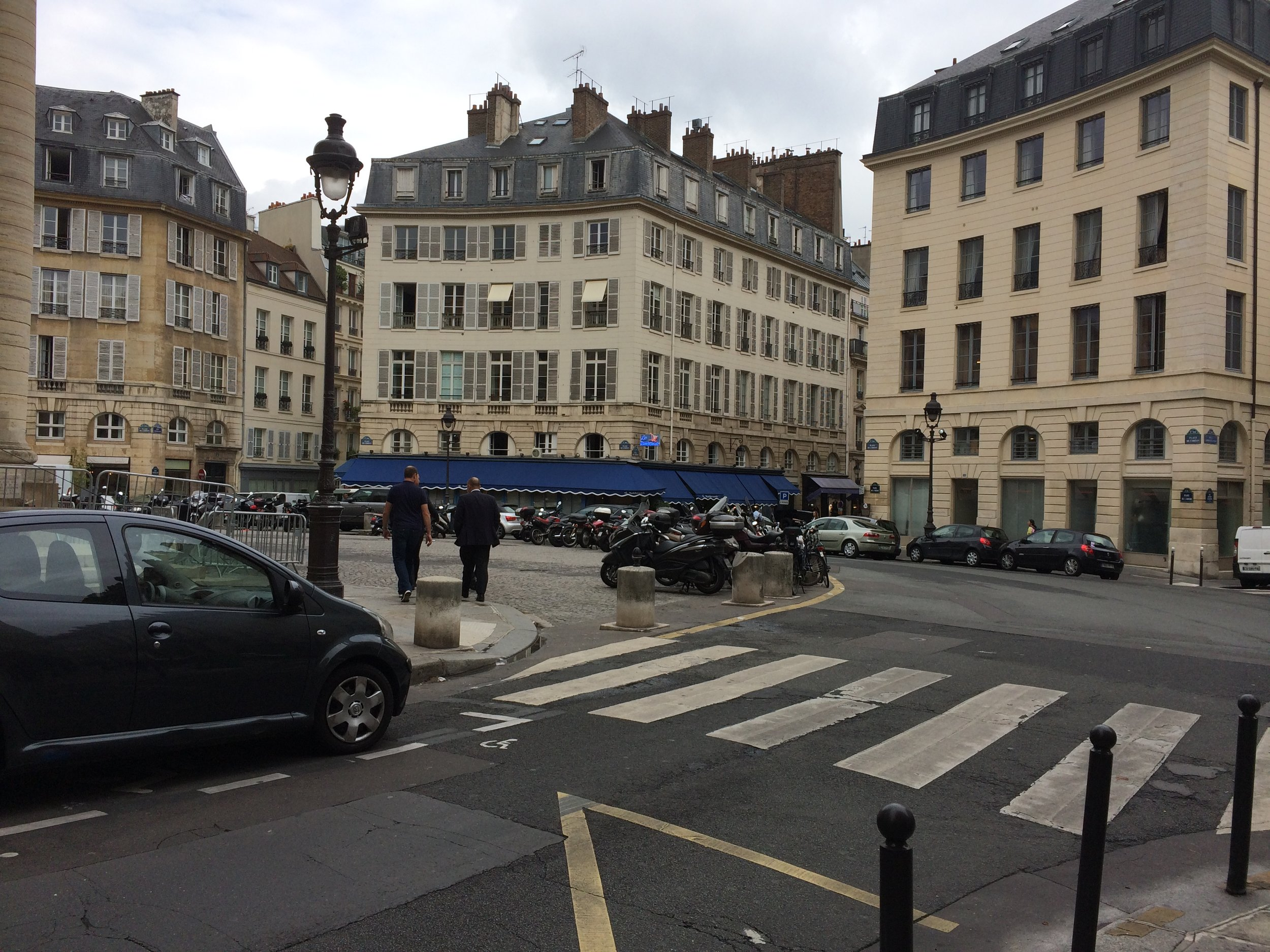 Parisian streets, nearby our hotel