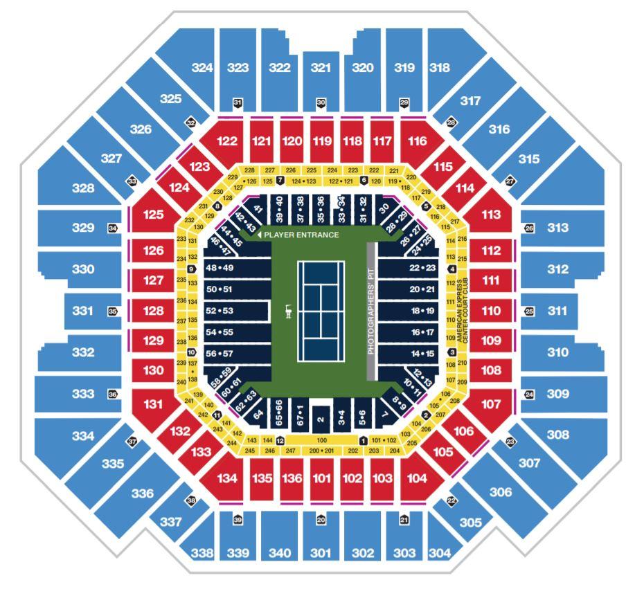 Arthur Ashe Stadium Map.JPG