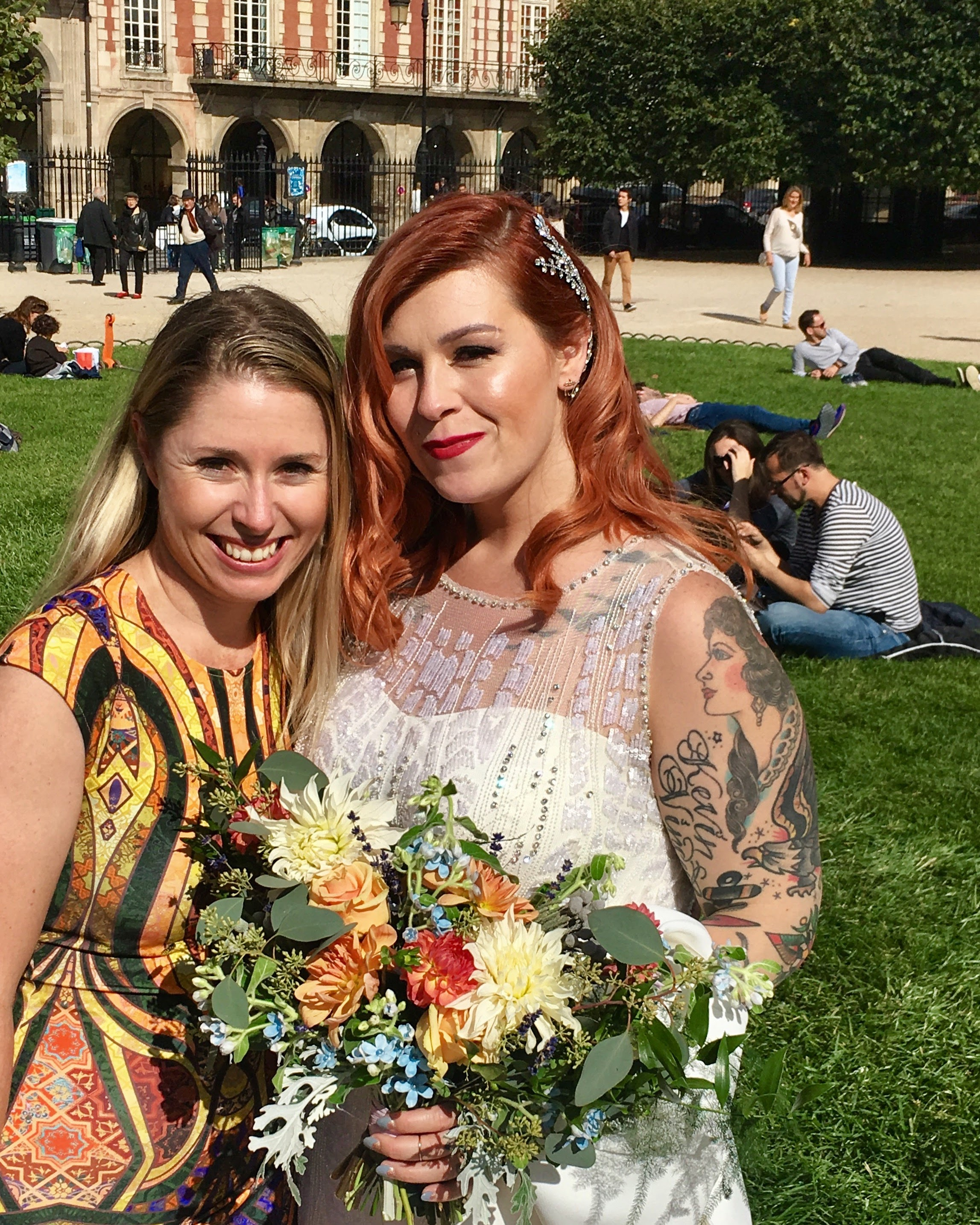 Loving full-time flower life with a gorgeous bride