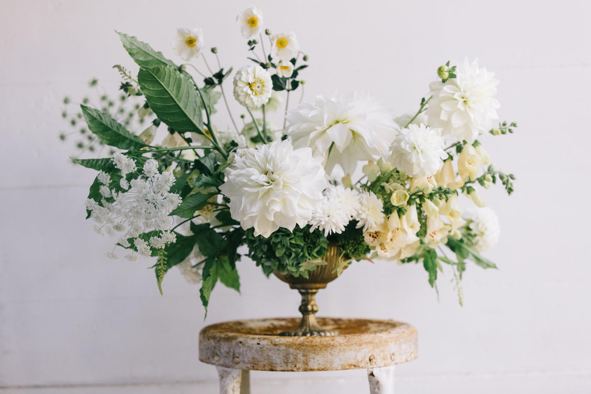 Arrangement by Mandi at Blue Ridge Blooms  Anna Hedges Photography