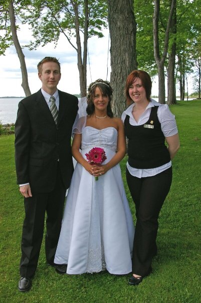 Here's a photo of me at that very first wedding!