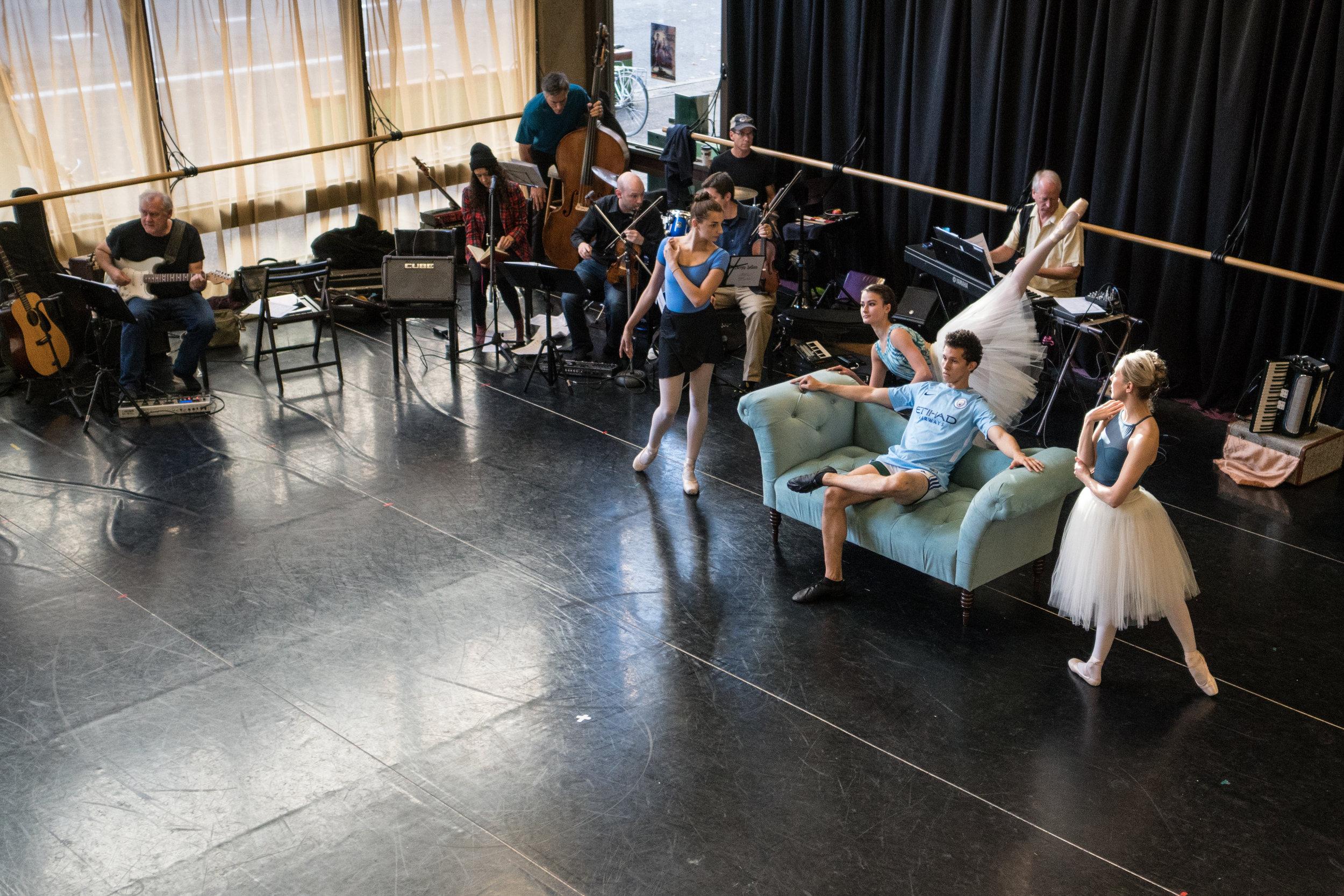 ballet fantastique dancers at work in city center for dance // bob williams