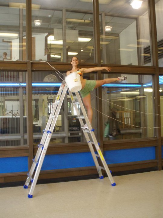Founding company dancer leanne mizzoni (bfan dancer 2009-2018) helps build the new city center for dance studio, 2010.