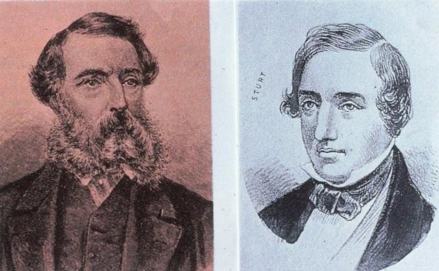Explorers, John McDouall Stuart and Charles Sturt