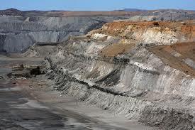 Open cut coal mine at Leigh Creek