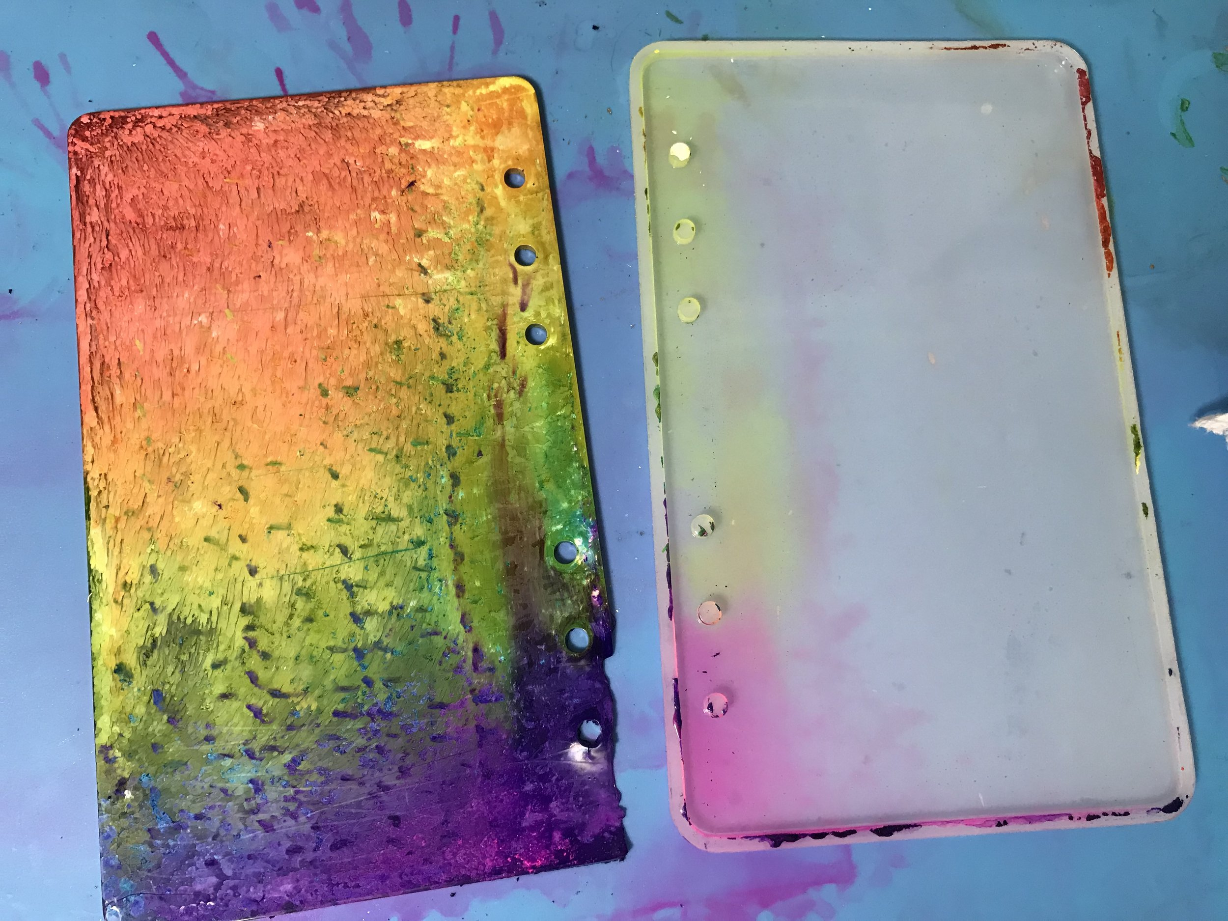 resin project #4, thin and colorful