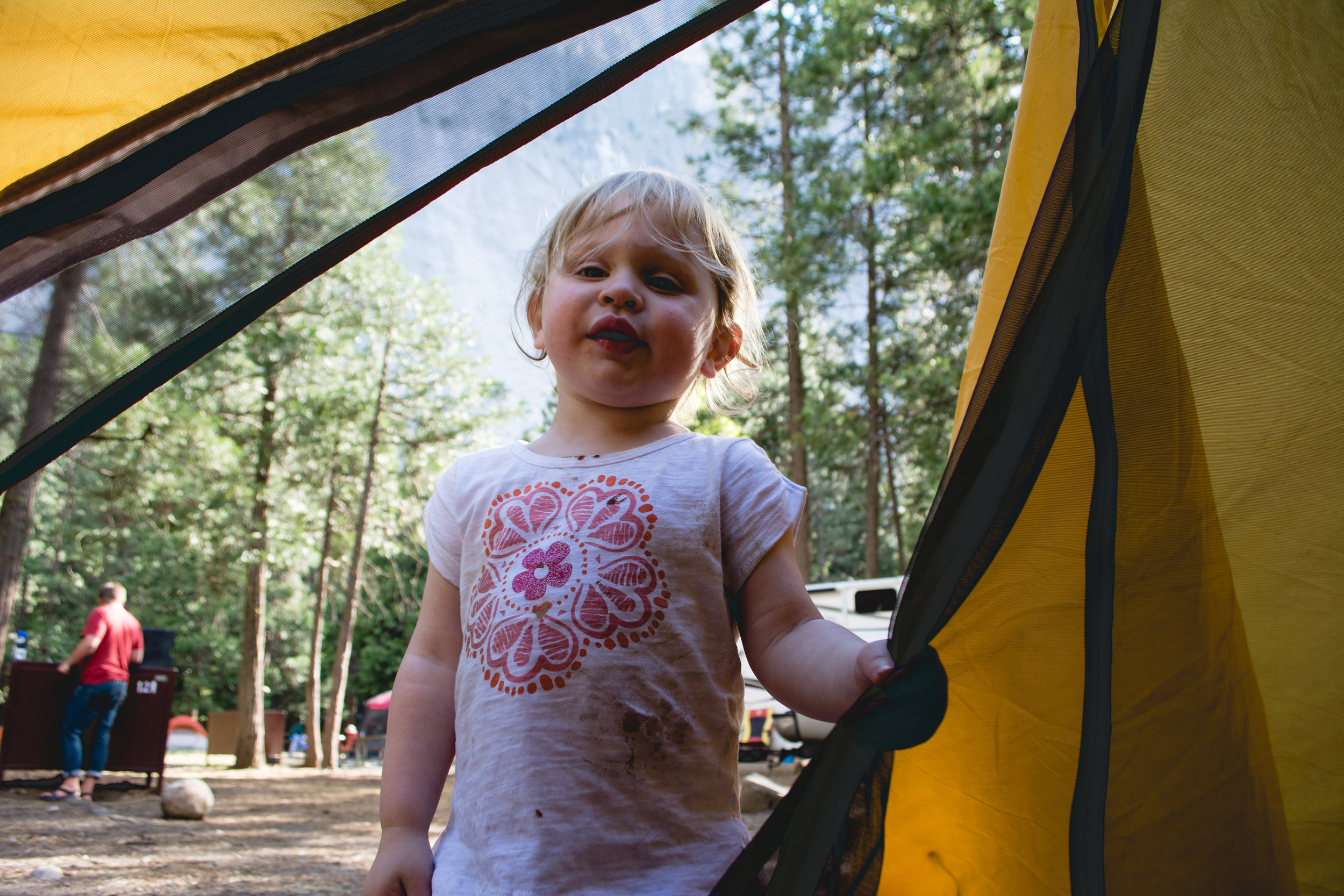 Kids get dirty camping. But, that is half the fun!