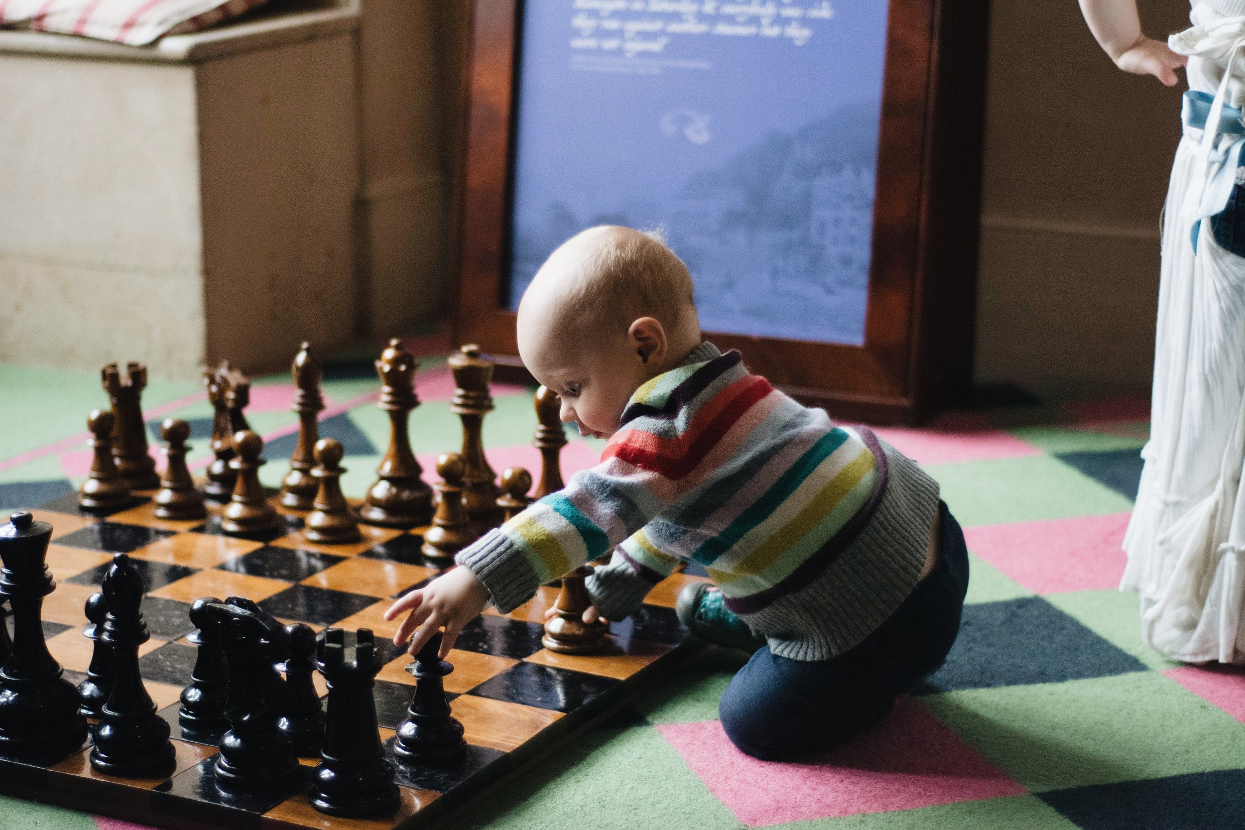 A mega chess set for kids to play around with.