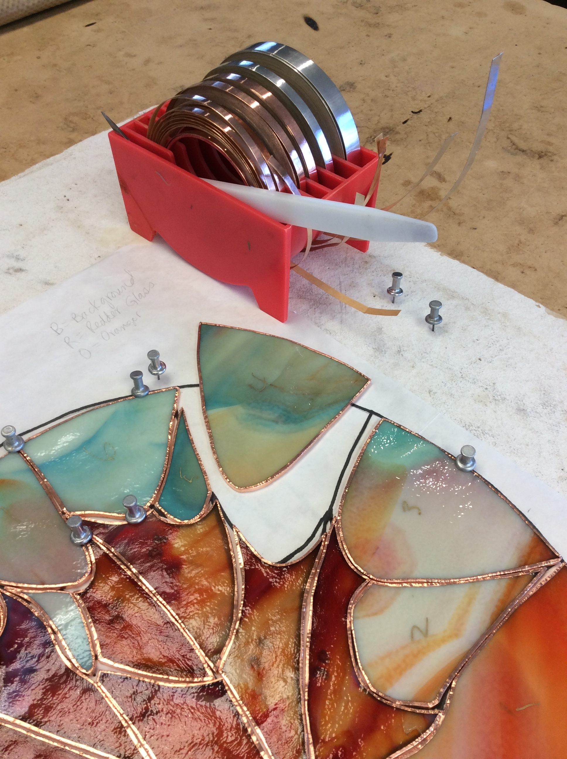 Step 7 - Wrap copper-foil.