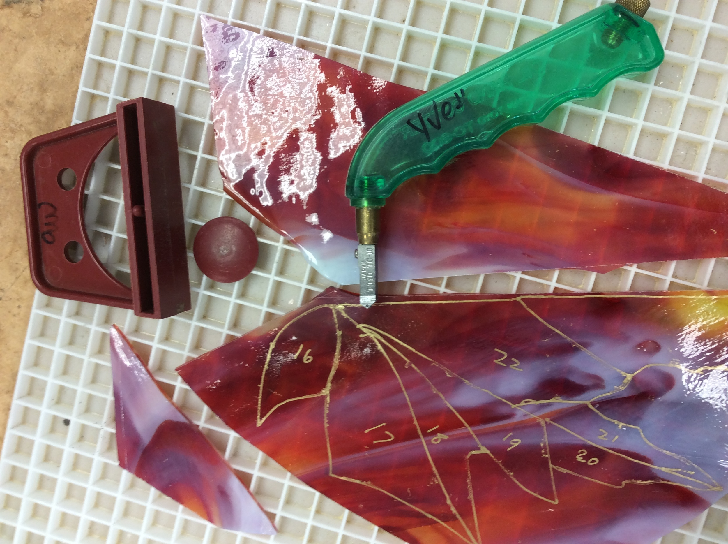 Step 4 Cut glass shapes