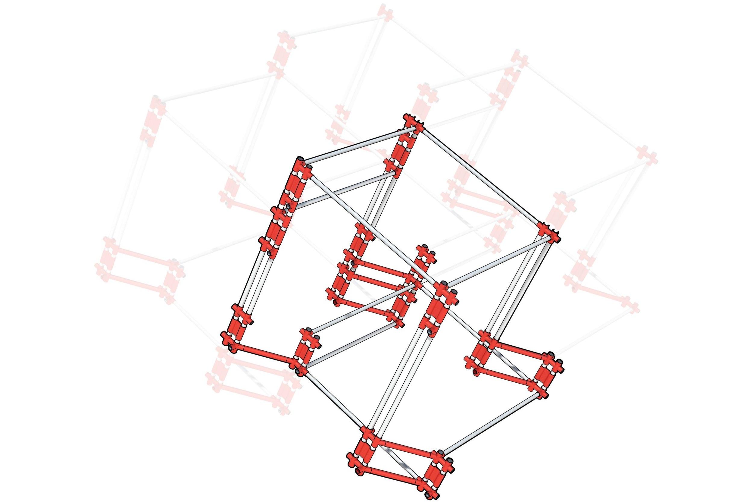 유니버설 조인트로 만들어진 기본 설계 유닛