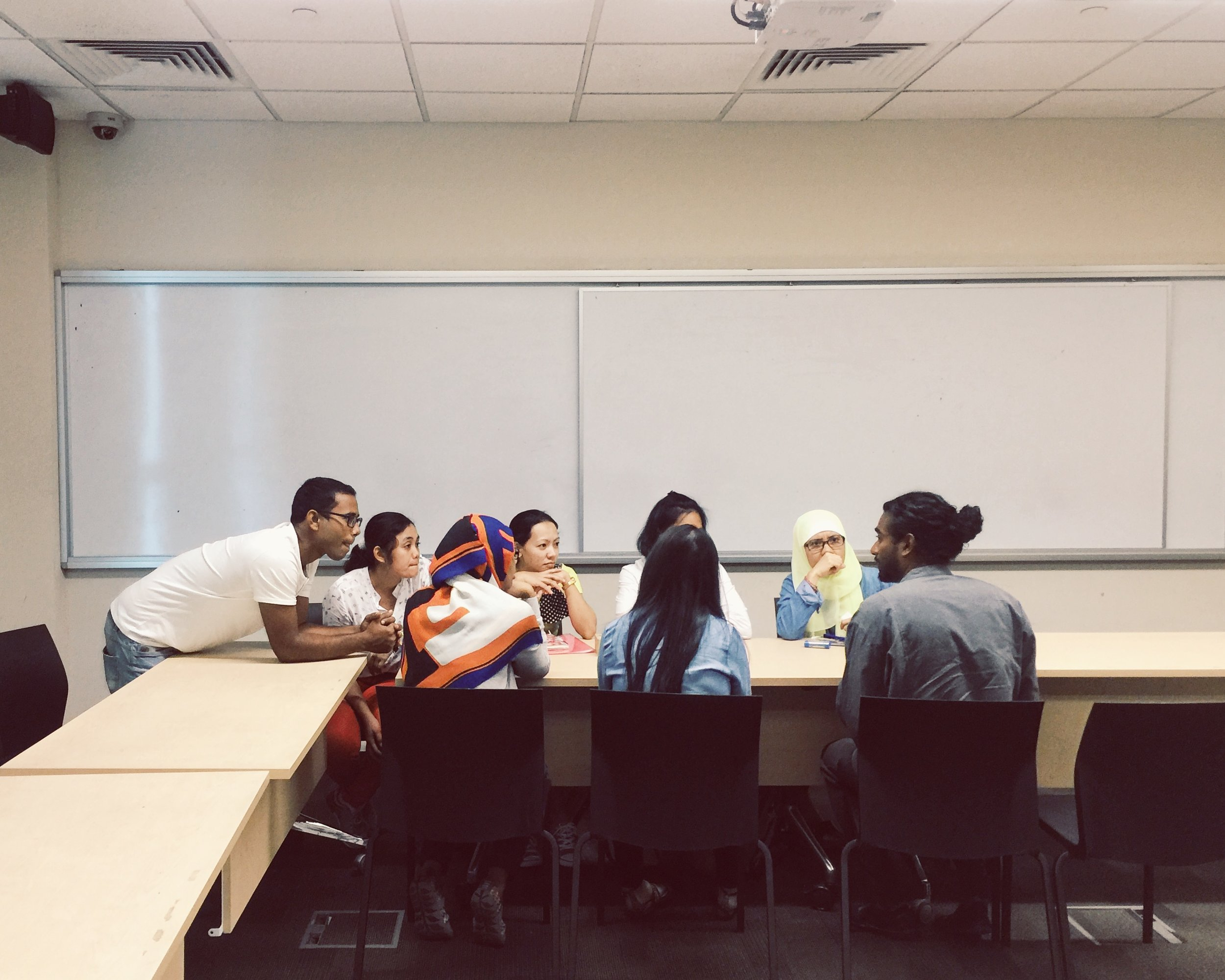 Initial meeting with the workers at NUS (National University Singapore).