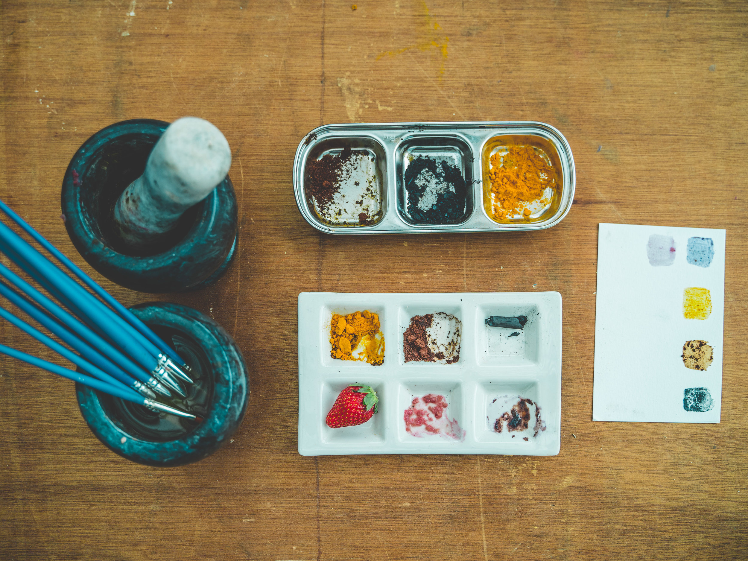 Natural Pigment Making  and Painting Workshop