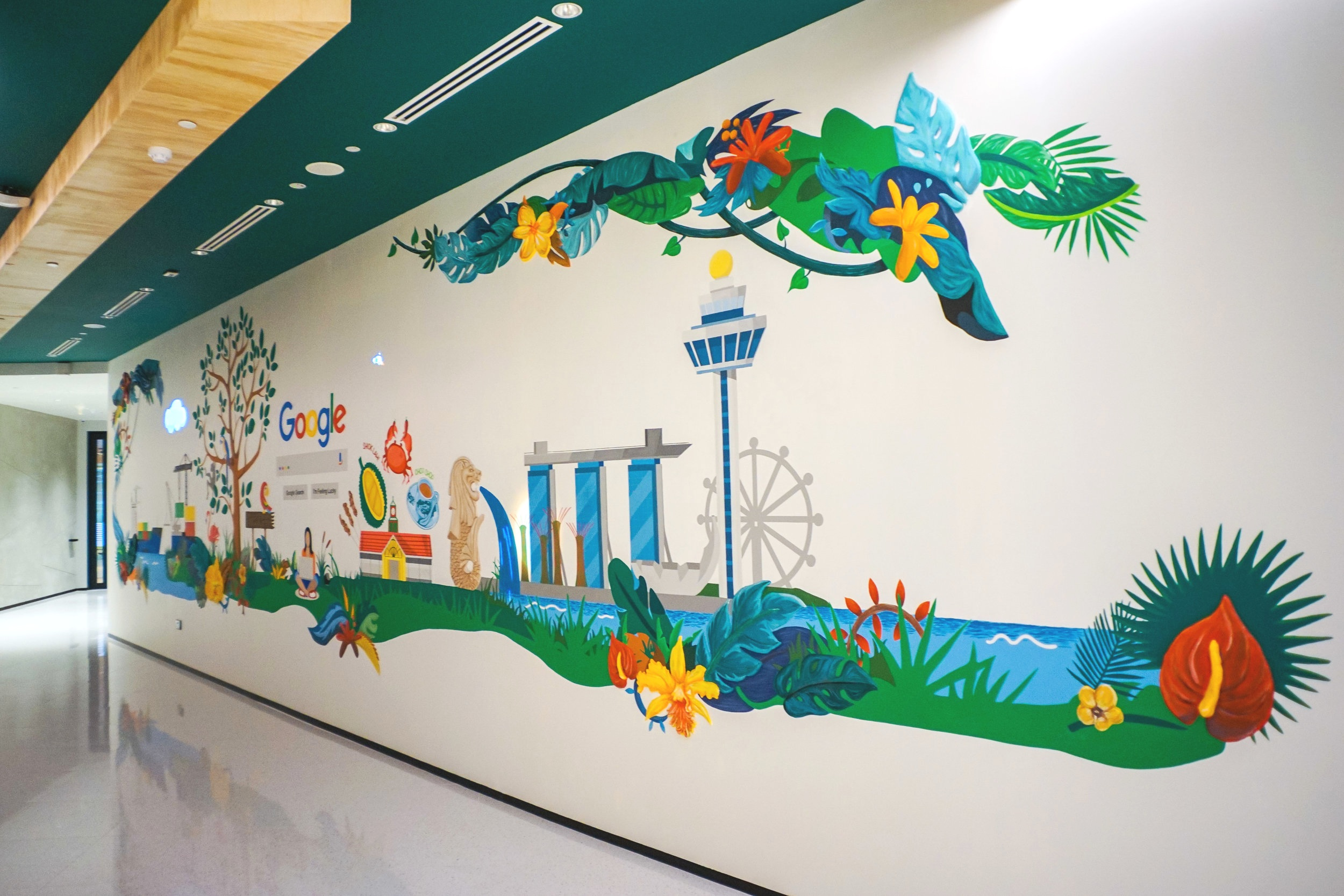 ECHOES - Tech Integrated Mural  @ Google Singapore