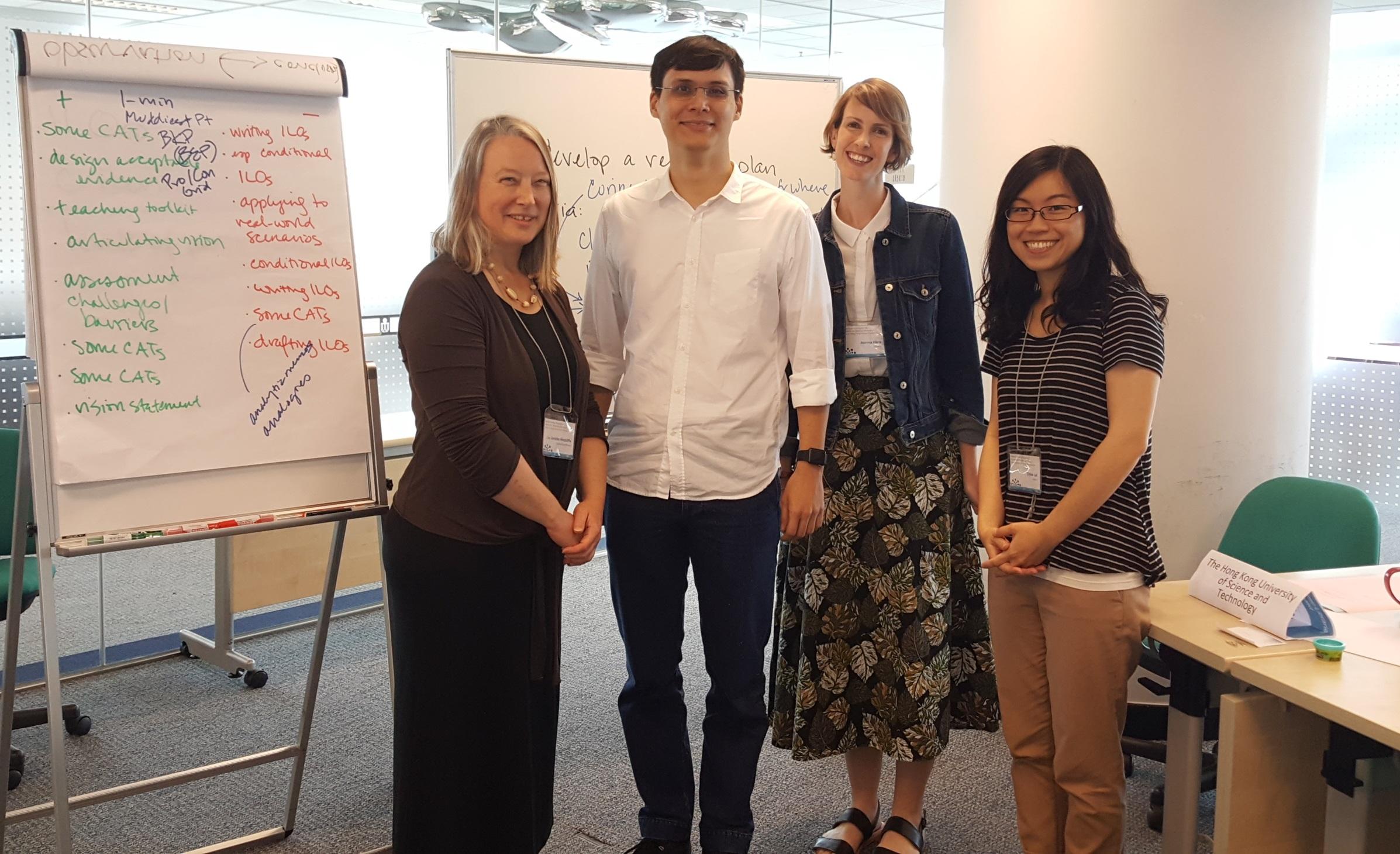 Lisa and HKLC contributors Chris, Jo, and Chloe