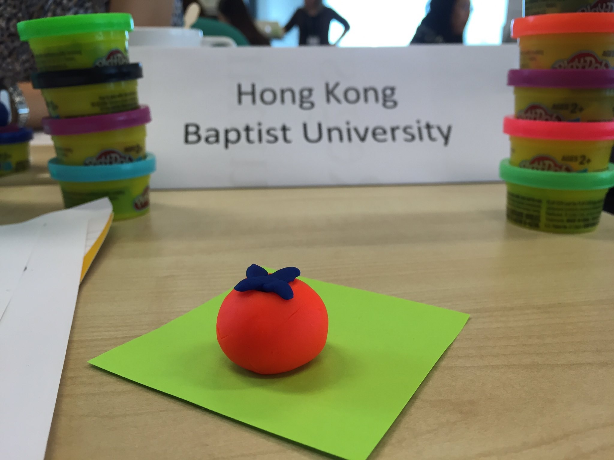 It wouldn't be one of Lisa's workshops without some Play-Doh! This exceptional sculpture is the work of Jennifer Gu (HKBU Library) :-)