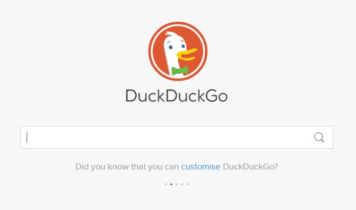 Worried about Google tracking your every search? DuckDuckGo does not collect any personal information.