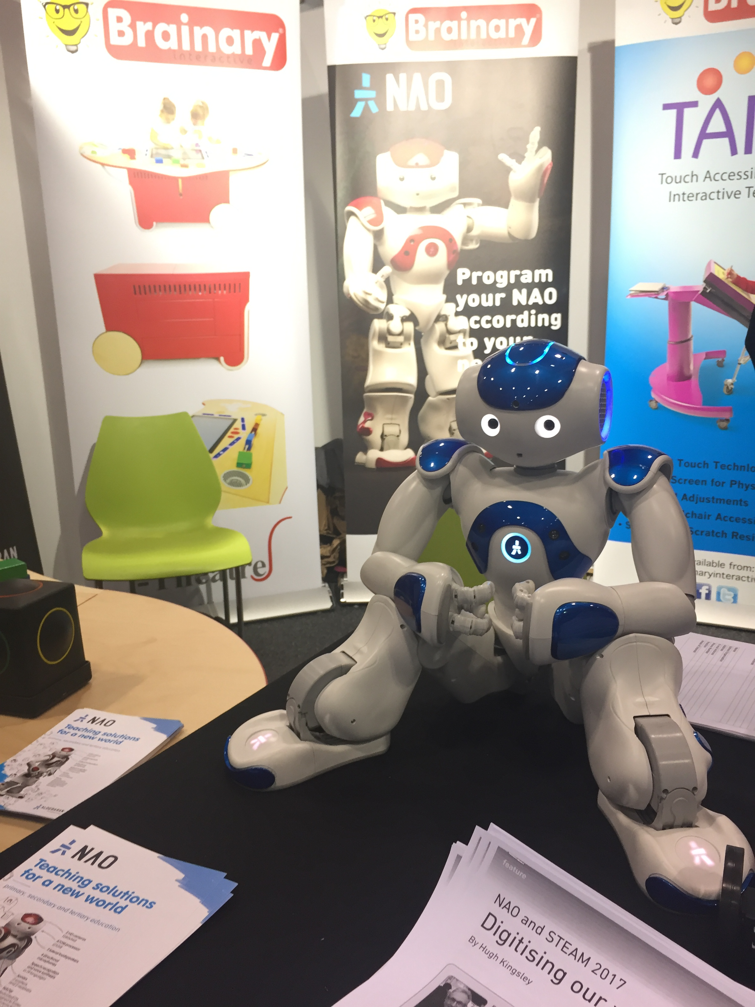 One of the most popular stands in the Exhibition. Nao made quite a few appearances in the conference!