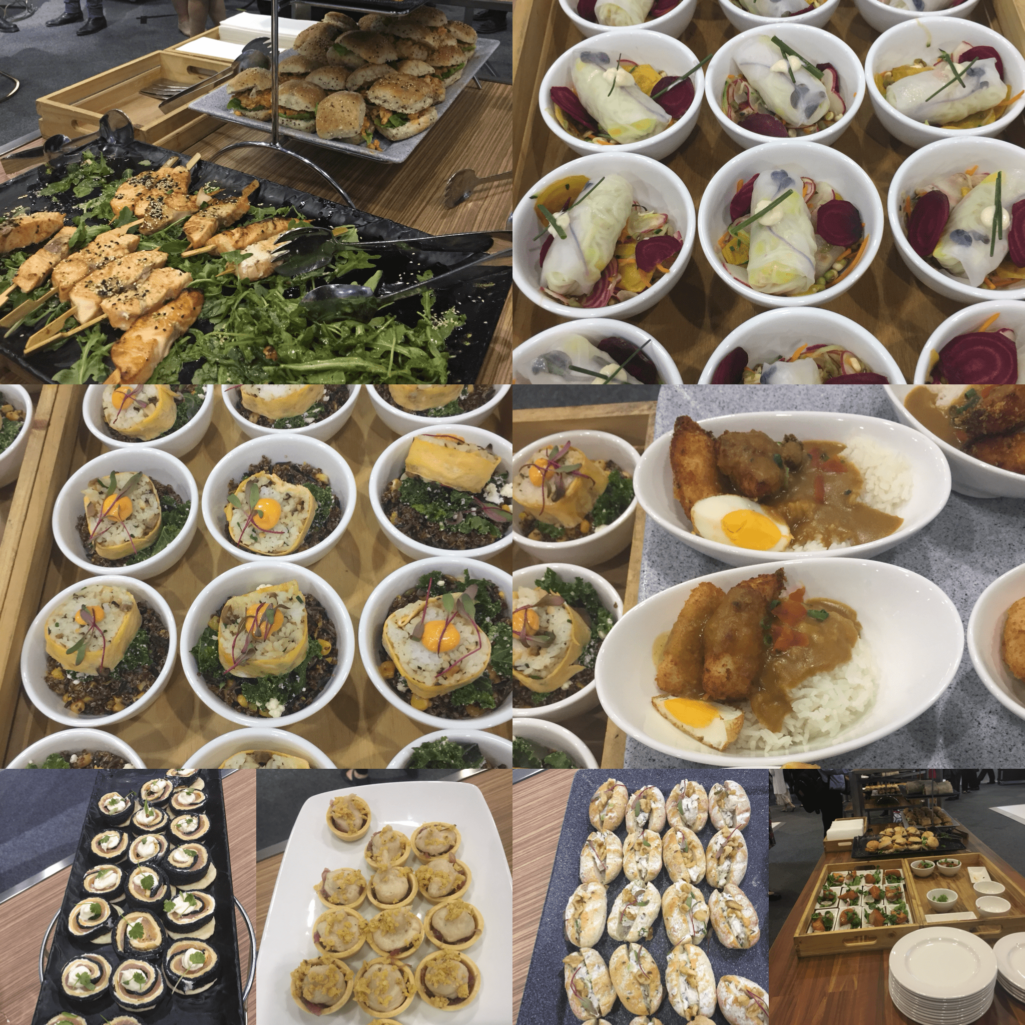 Assortment of conference food