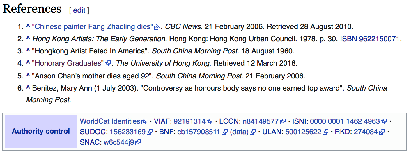 Five good references added, most notably newspaper articles from the  South China Morning Post .
