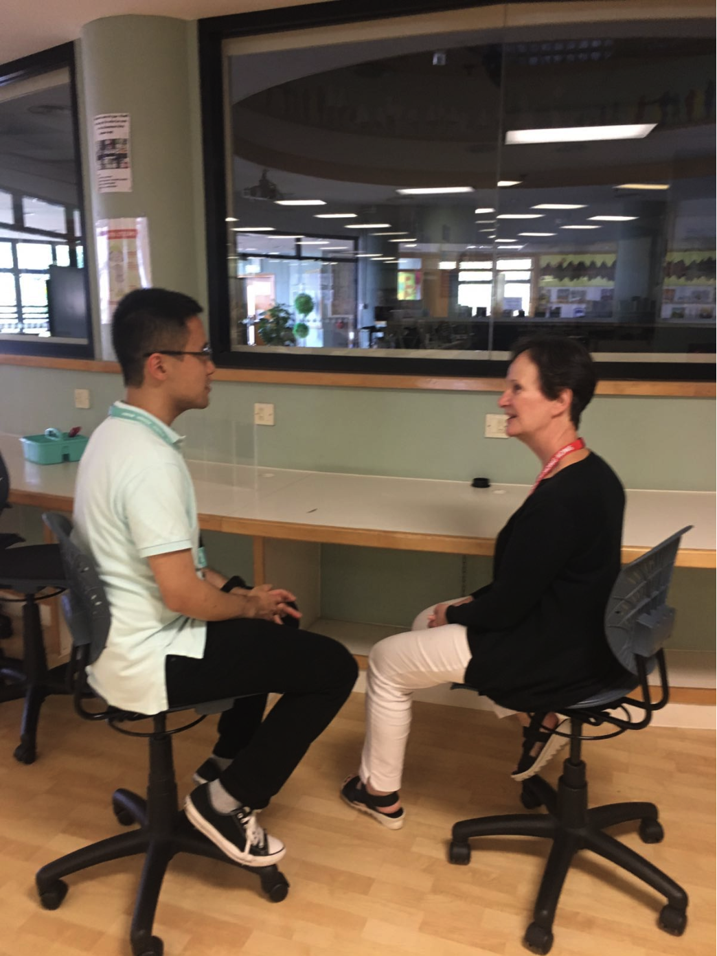Benjamin sits down for a conversation with Teacher-Librarian Myrna Holm