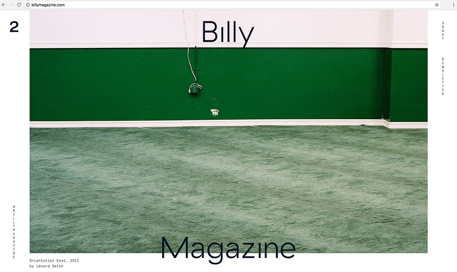 JULY 2017: Contributor to Billy Magazine, Issue 2